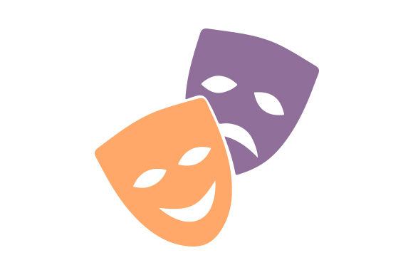 Download Free Drama Masks Svg Cut File By Creative Fabrica Crafts Creative for Cricut Explore, Silhouette and other cutting machines.