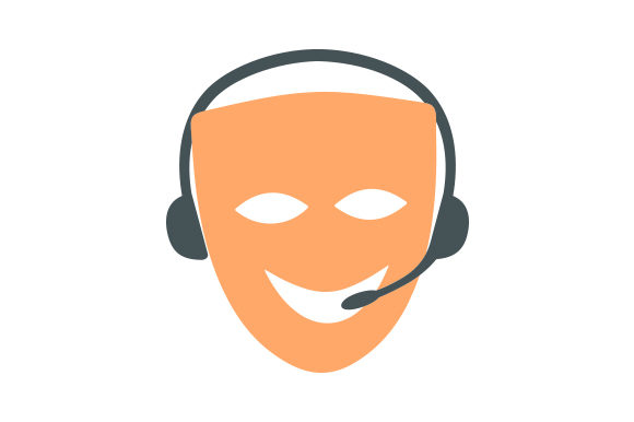 Download Free Comedy Drama Mask Stage Manager Svg Cut File By Creative Fabrica Crafts Creative Fabrica for Cricut Explore, Silhouette and other cutting machines.