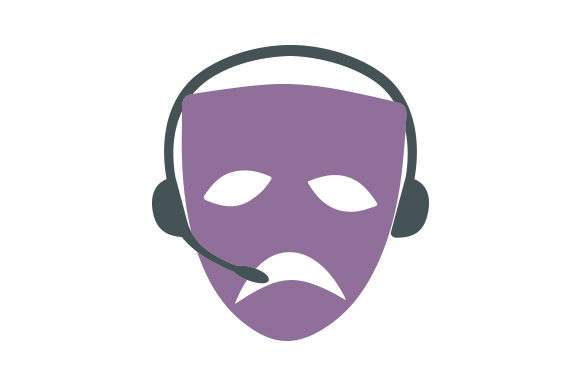 Download Free Tragedy Drama Mask Stage Manager Svg Cut File By Creative for Cricut Explore, Silhouette and other cutting machines.