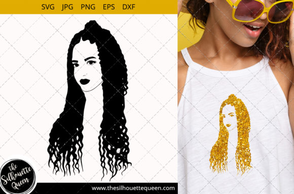 Download Free Afro Woman With Cornrow Braids Graphic By Thesilhouettequeenshop for Cricut Explore, Silhouette and other cutting machines.