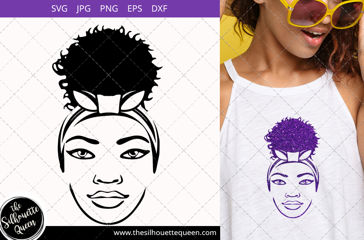 Download Free Afro Woman With A Puff Graphic By Thesilhouettequeenshop for Cricut Explore, Silhouette and other cutting machines.