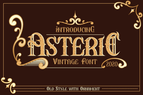 Print on Demand: Asteric Display Schriftarten von Black Lotus