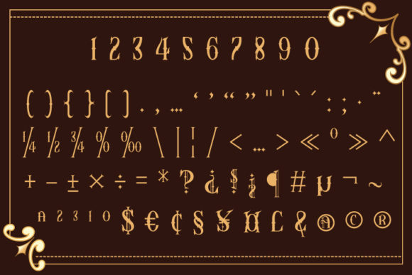 Print on Demand: Asteric Display Font By Black Lotus - Image 8