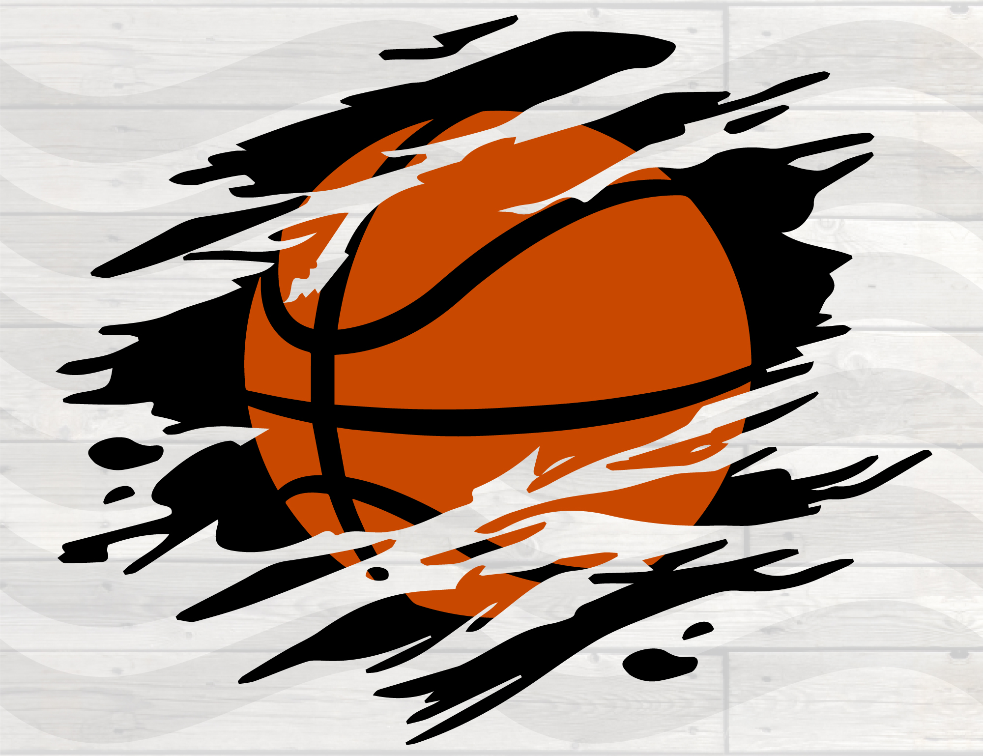 Download Free Basketball Distressed Torn Grunge Graphic By Nicetomeetyou for Cricut Explore, Silhouette and other cutting machines.