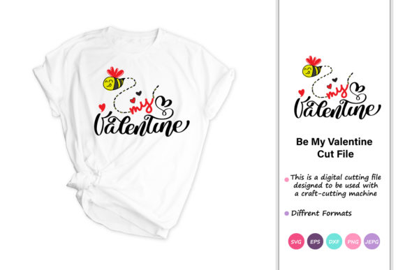 Print on Demand: Bee My Valentine Graphic Crafts By iprintasty