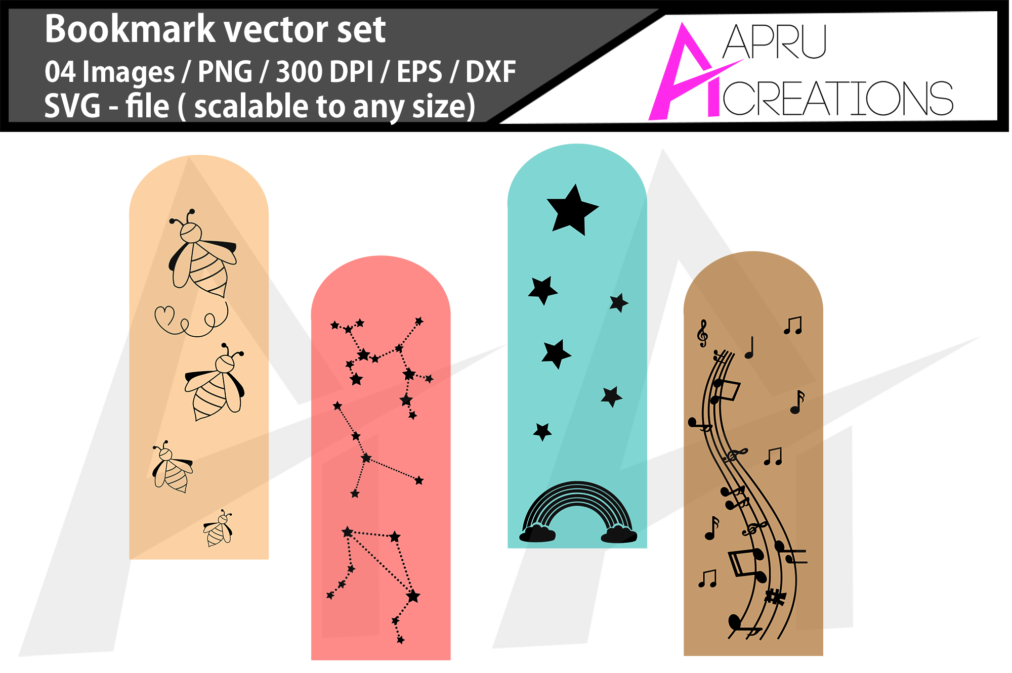 Download Free Bookmark Silhouette Graphic By Aparnastjp Creative Fabrica for Cricut Explore, Silhouette and other cutting machines.