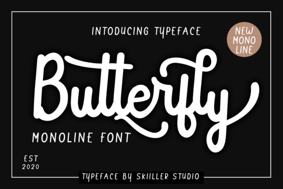Print on Demand: Butterfly Script & Handwritten Font By Skiiller Studio