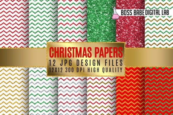 Download Free Christmas Digital Papers Graphic By Bossbabedigitallab for Cricut Explore, Silhouette and other cutting machines.