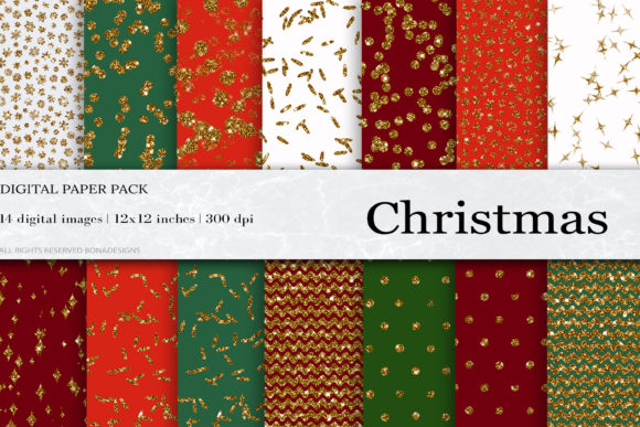 Christmas Digital Papers Graphic Patterns By damlaakderes