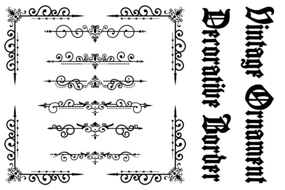 Download Free Classic Ornament Frame Vintage Border Graphic By Anomali Bisu for Cricut Explore, Silhouette and other cutting machines.