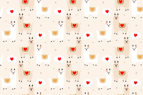 Download Free Cute Llama Lover Seamless Pattern Graphic By Thanaporn Pinp for Cricut Explore, Silhouette and other cutting machines.