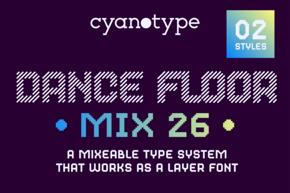 Print on Demand: Dance Floor MIx 26 Display Font By cyanotype