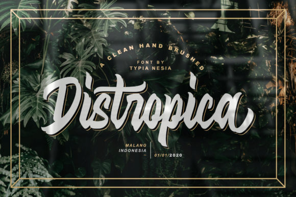 Print on Demand: Distropica Display Font By Typia Nesia