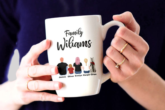 Family Cliart, People Sitting, Siblings Graphic Illustrations By LeCoqDesign - Image 7