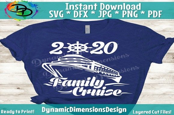 Print on Demand: Family Cruise 2020 Graphic Crafts By dynamicdimensions