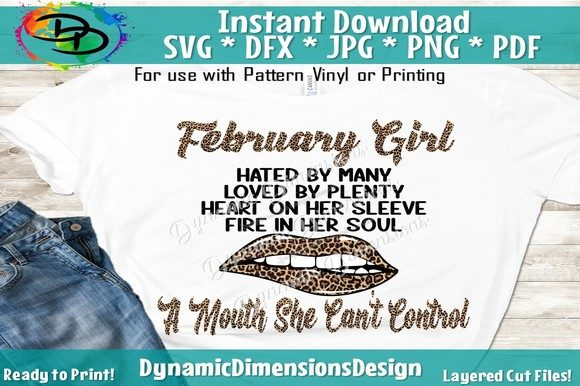 Print on Demand: February Girl, February Birthday Graphic Crafts By dynamicdimensions