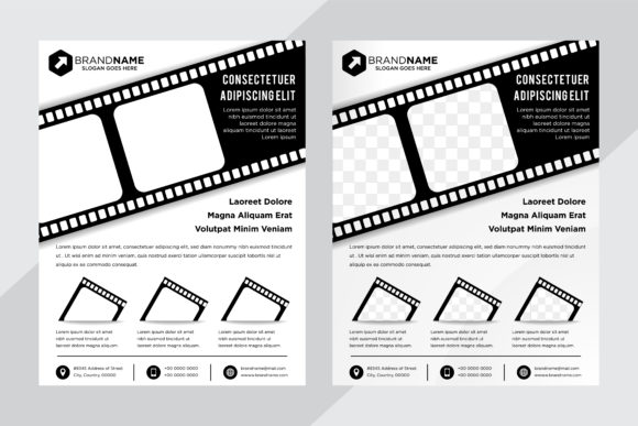 Print on Demand: Film Flyer Black White Flyer Graphic Graphic Templates By noory.shopper