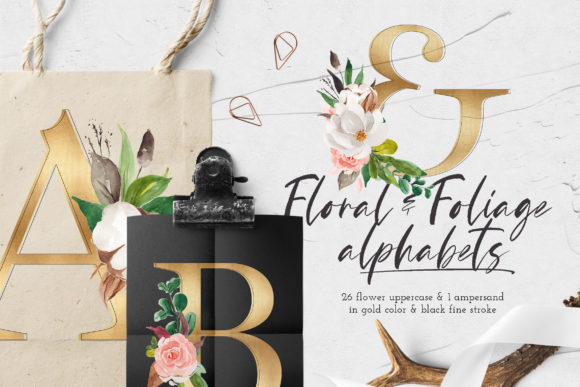 Print on Demand: Floral & Foliage Illustration Pack Graphic Illustrations By Blue Robin Design Shop - Image 11
