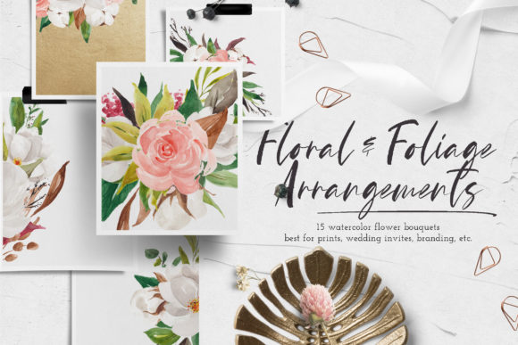 Print on Demand: Floral & Foliage Illustration Pack Graphic Illustrations By Blue Robin Design Shop - Image 5