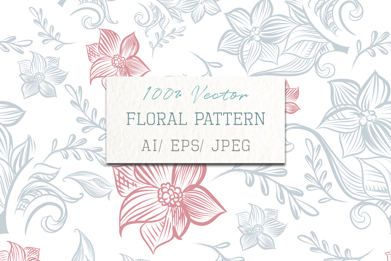 Download Free Floral Rustic Pattern Vector Design Graphic By Fleurartmariia SVG Cut Files