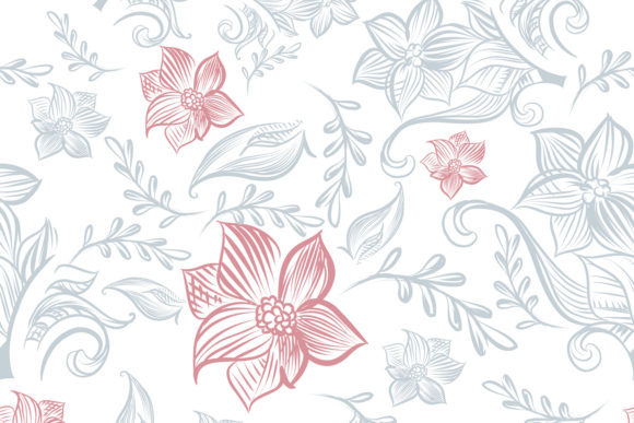 Download Free Floral Rustic Pattern Vector Design Graphic By Fleurartmariia for Cricut Explore, Silhouette and other cutting machines.