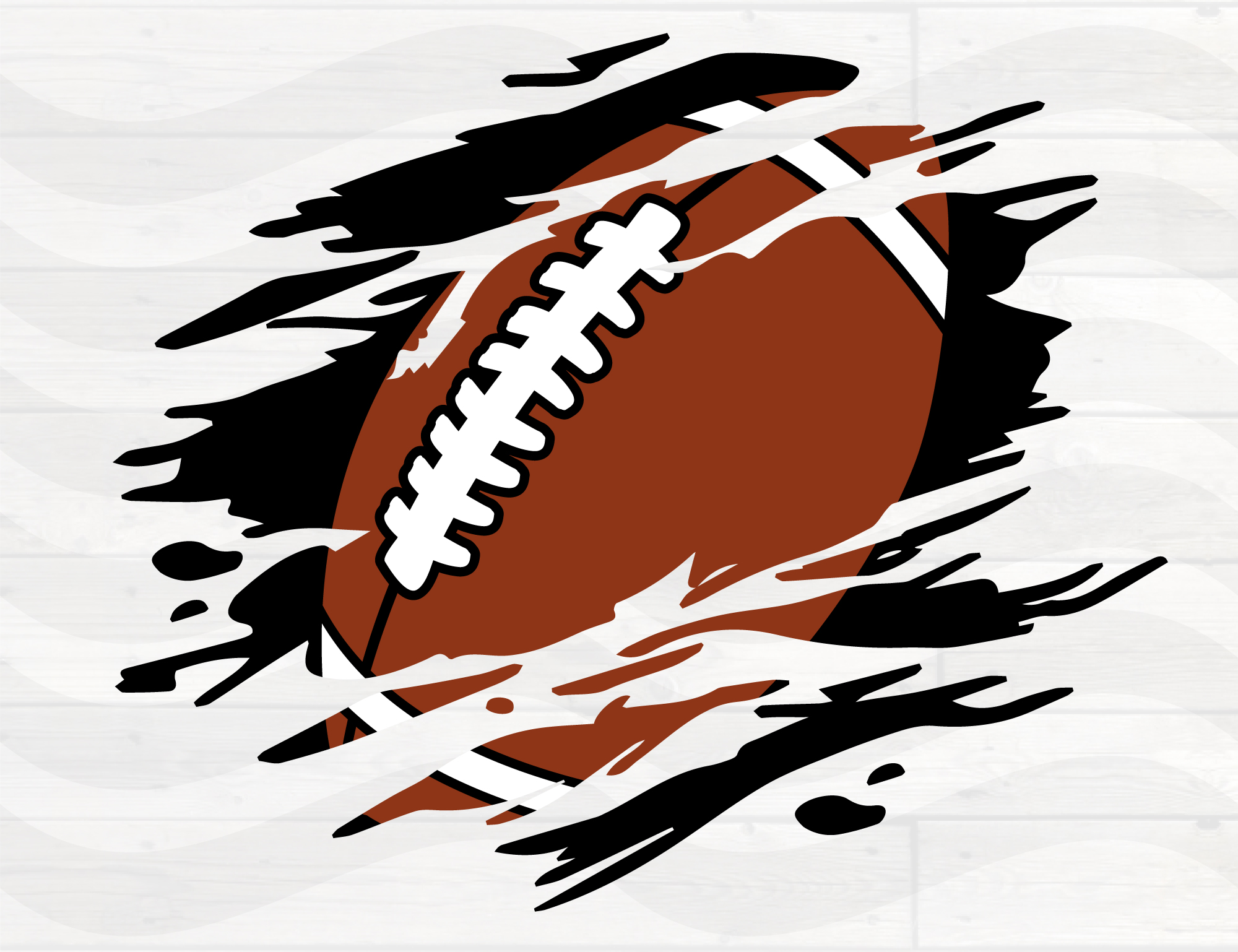 Download Free Football Distressed Torn Grunge Graphic By Nicetomeetyou for Cricut Explore, Silhouette and other cutting machines.