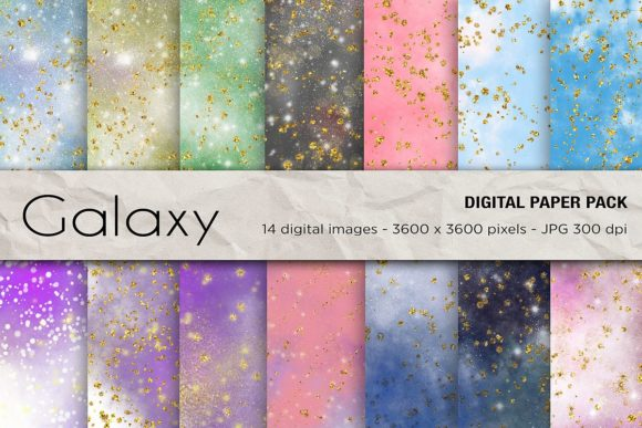 Galaxy Space Digital Papers Graphic Backgrounds By mertakdere19 - Image 1