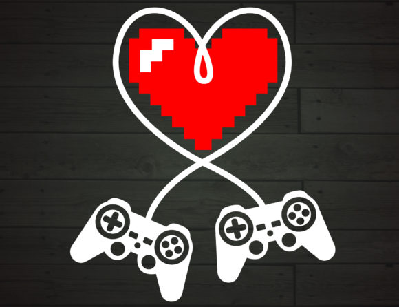 Print on Demand: Game Controller Heart Valentines Graphic Crafts By NiceToMeetYou