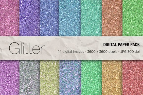 Glitter Digital Papers Graphic Backgrounds By mertakdere19 - Image 1