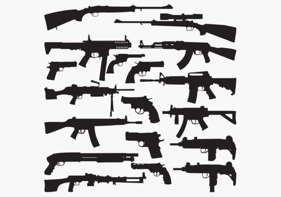 Guns Silhouettes Graphic Crafts By octopusgraphic