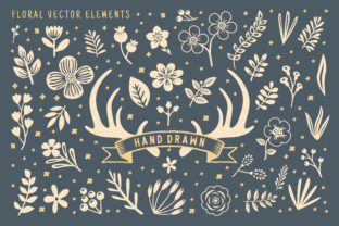Hand Drawn Floral Vector Element Graphic Illustrations By AllmoStudio