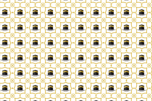 Print on Demand: Ka'bah Pattern Gold Black Graphic Patterns By noory.shopper