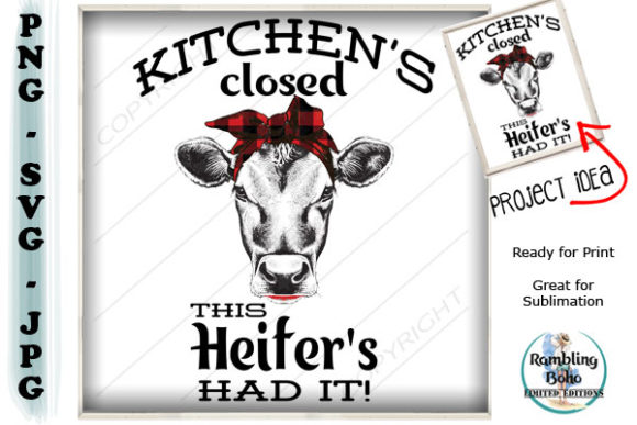 Print on Demand: Kitchen's Closed Graphic Illustrations By RamblingBoho - Image 1