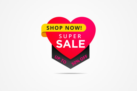 Print on Demand: Love Sale Banner Element Graphic Graphic Templates By noory.shopper