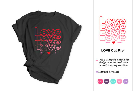 Print on Demand: Love, Valentines Day Graphic Crafts By iprintasty - Image 1