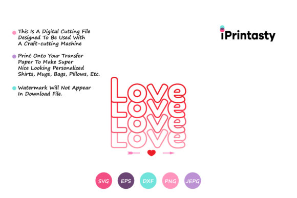 Print on Demand: Love, Valentines Day Graphic Crafts By iprintasty - Image 2