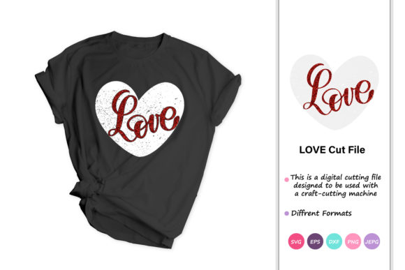 Print on Demand: Love, Valentines Day, Heart Graphic Crafts By iprintasty