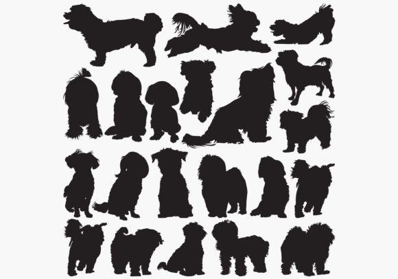 Download Free Maltese Dog Silhouettes Graphic By Octopusgraphic Creative Fabrica for Cricut Explore, Silhouette and other cutting machines.