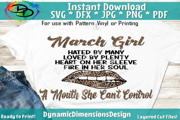 Print on Demand: March Girl, March Birthday Graphic Crafts By dynamicdimensions