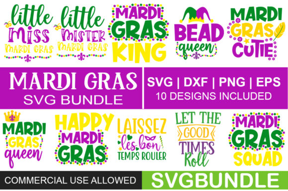 Print on Demand: Mardi Gras Bundle Graphic Print Templates By svgbundle.net