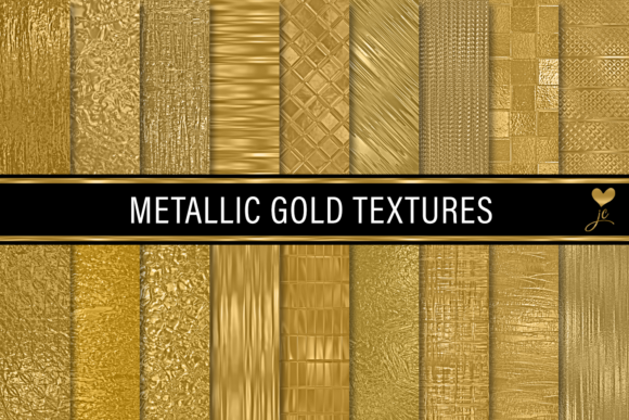Print on Demand: Metallic Gold Textures Graphic Textures By JulieCampbellDesigns