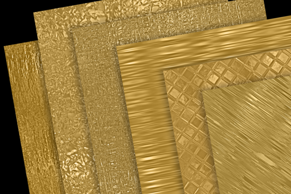 Print on Demand: Metallic Gold Textures Graphic Textures By JulieCampbellDesigns - Image 2