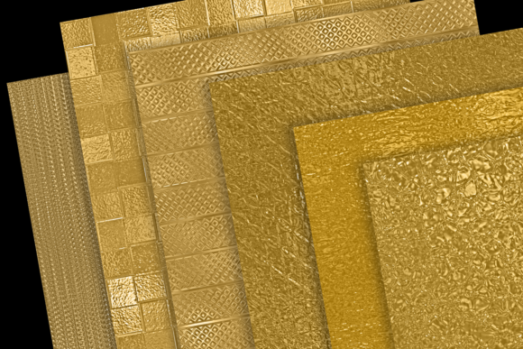 Print on Demand: Metallic Gold Textures Graphic Textures By JulieCampbellDesigns - Image 3