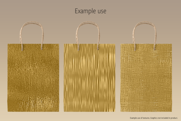 Print on Demand: Metallic Gold Textures Graphic Textures By JulieCampbellDesigns - Image 7