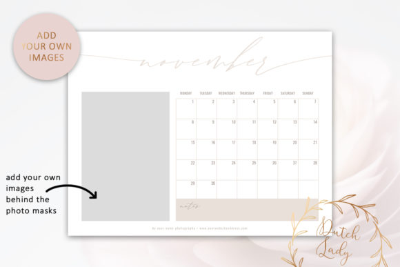 Download Free Psd Photo Calendar Template 2021 3 Graphic By Daphnepopuliers Creative Fabrica for Cricut Explore, Silhouette and other cutting machines.