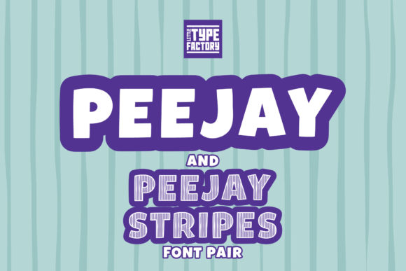 Print on Demand: Peejay & Peejay Stripes Display Font By Little Type Factory