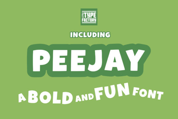 Print on Demand: Peejay & Peejay Stripes Display Font By Little Type Factory - Image 3