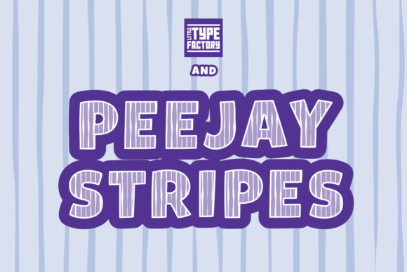 Print on Demand: Peejay & Peejay Stripes Display Font By Little Type Factory - Image 4