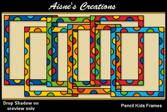 Print on Demand: Pencil Kids Frames Graphic Objects By Aisne