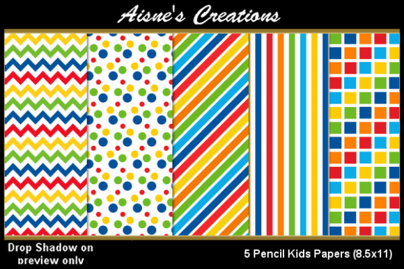 Print on Demand: Pencil Kids Paper Pack Graphic Backgrounds By Aisne
